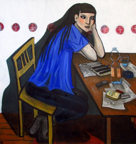 GS, Unemployment and social isolation, 2015, acryl on canvas, 110x120 cm