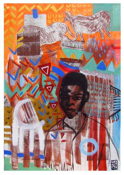 GS, Africa, 2017, acrilic on canvas, 65 x 90 cm